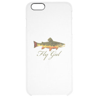 Woman's Fly Fishing Clear iPhone 6 Plus Case