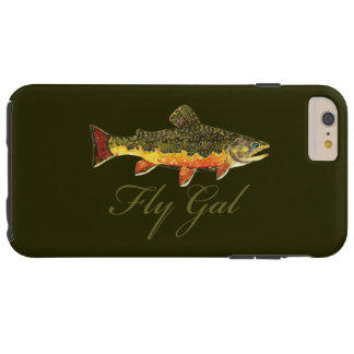 Woman's Fly Fishing Tough iPhone 6 Plus Case