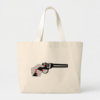 Woman's Hand and Gun Large Tote Bag