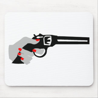Woman's Hand and Gun Mouse Pad