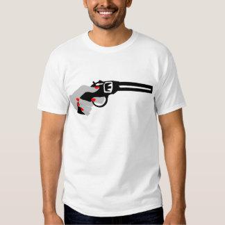 Woman's Hand and Gun Shirt