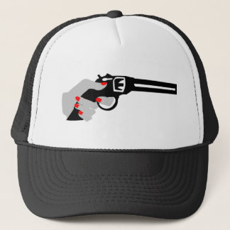 Woman's Hand and Gun Trucker Hat