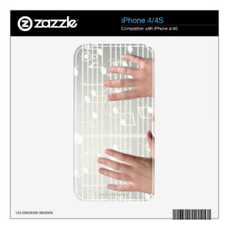 Womans Hands Decals For The iPhone 4