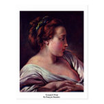Woman'S Head By François Boucher Postcard