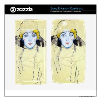 Womans head by Gustav Klimt Xperia Arc Skin
