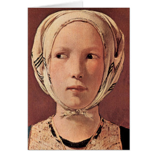 Woman's head frontally by Georges de La Tour Card