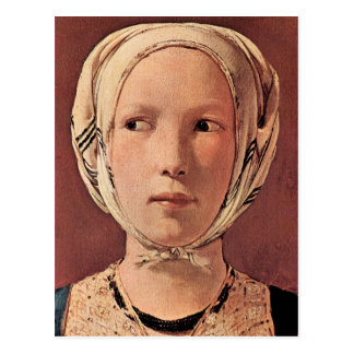 Woman's head frontally by Georges de La Tour Postcard