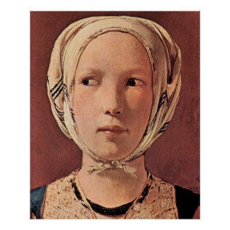 Woman's head frontally by Georges de La Tour Poster
