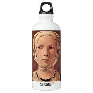 Woman's head frontally by Georges de La Tour SIGG Traveler 0.6L Water Bottle