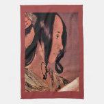 Woman's head in profile by Georges de La Tour Towel