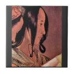 Woman's head in profile by Georges de La Tour Tile