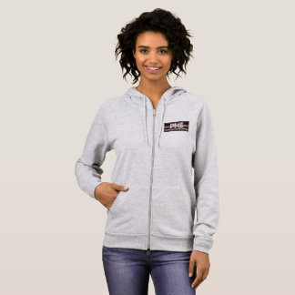 woman's hoodie with PME logo