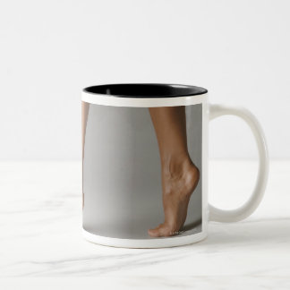 Woman's legs Two-Tone coffee mug