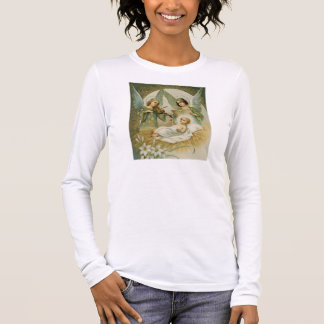 Woman's Longsleeve T-Shirt: Gloria in Excelsis Deo Long Sleeve T-Shirt