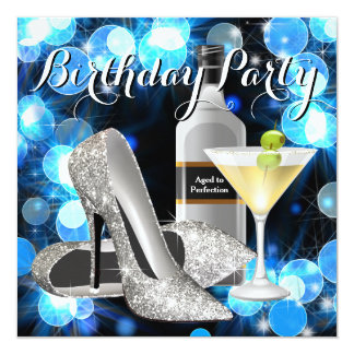 Womans Martini Birthday Party Card