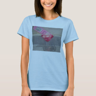 womans martini cellphone t shirt