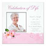 Womans Photo Memorial Service Announcement