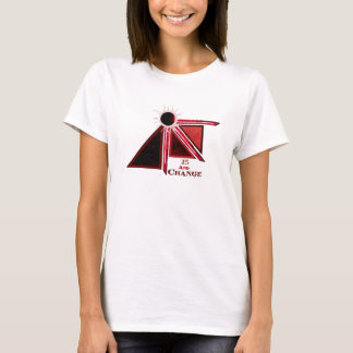 Woman's Plain Band T (White) 15 and Change T-Shirt