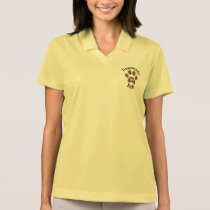 Woman's polo with Pawprints Reiki logo