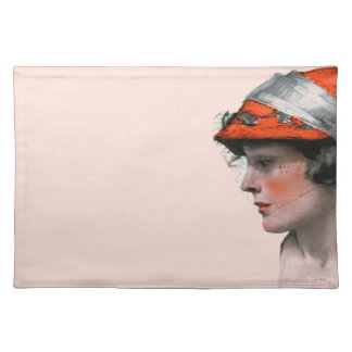 Woman's Profile Cloth Placemat