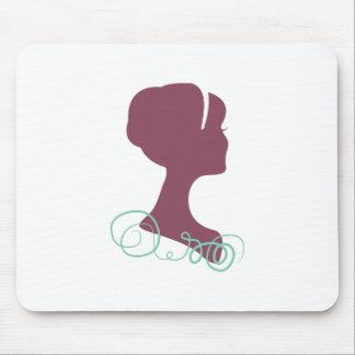 Womans Profile Mouse Pad