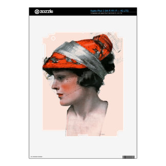 Woman's Profile Skins For iPad 3