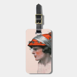 Woman's Profile Tag For Luggage