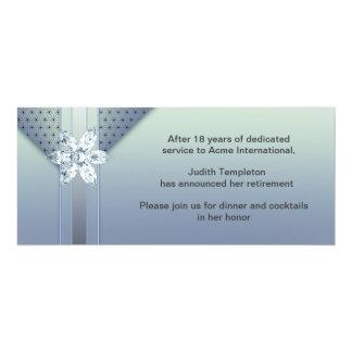 Womans Purple Diamond Retirement Party Invitation
