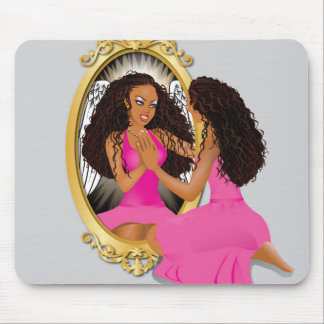 Woman's Reflection Pink Mouse Pad