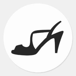 Woman's shoe sticker