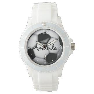 Woman's Soccer Personalized Wristwatch