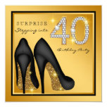 Womans Surprise 40th Birthday Party Invitation