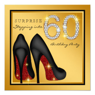 60th birthday party invitations announcements zazzle womans surprise 60th birthday party invitation filmwisefo