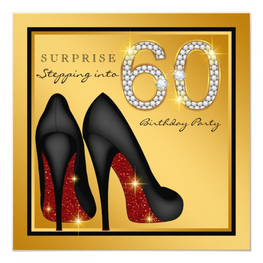 Womans surprise 60th birthday party invitation zazzle womans surprise 60th birthday party invitation filmwisefo