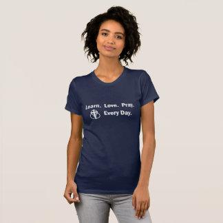Woman's T-shirt: Learn Love Pray T-Shirt