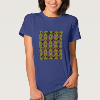 Woman's T-Shirt with Olive Patterned Design
