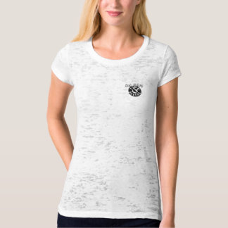 womans tee in burnout