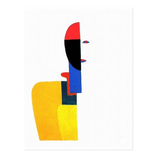 Woman's Torso Abstract Art Postcard
