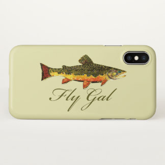 Woman's Trout Fly Fishing iPhone X Case