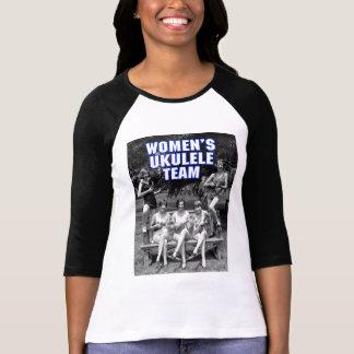 Woman's Uke Team Ladies 3/4 Sleeve Raglan T-Shirt