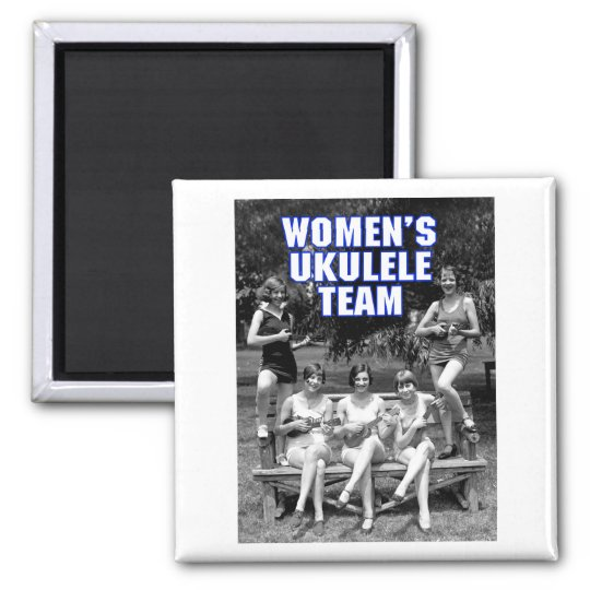Woman's Uke Team Magnet
