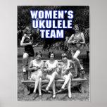 Woman's Uke Team Poster