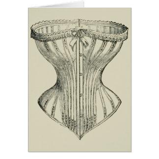 Woman's Victorian Corset Card