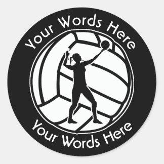 Woman's Volleyball Custom Sticker