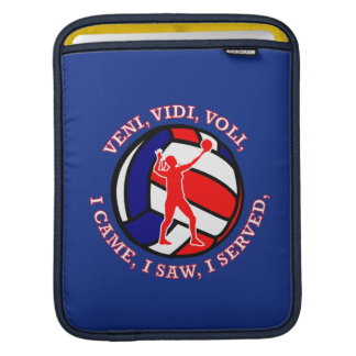 Woman's Volleyball Shield Sleeves For iPads
