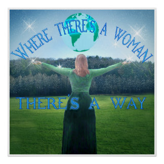 WOMAN'S WAY 24 x 24 Print +Other Sizes Other Items Poster