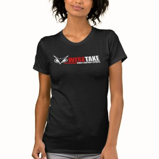 Woman's WiseTake Daily Fantasy Sports Black Tee