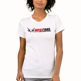 Woman's WiseTake Daily Fantasy Sports White Tee