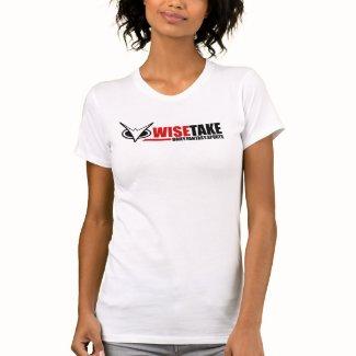 Woman's WiseTake Daily Fantasy Sports White Tee