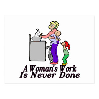 Woman's Work Is Never Done Postcard
